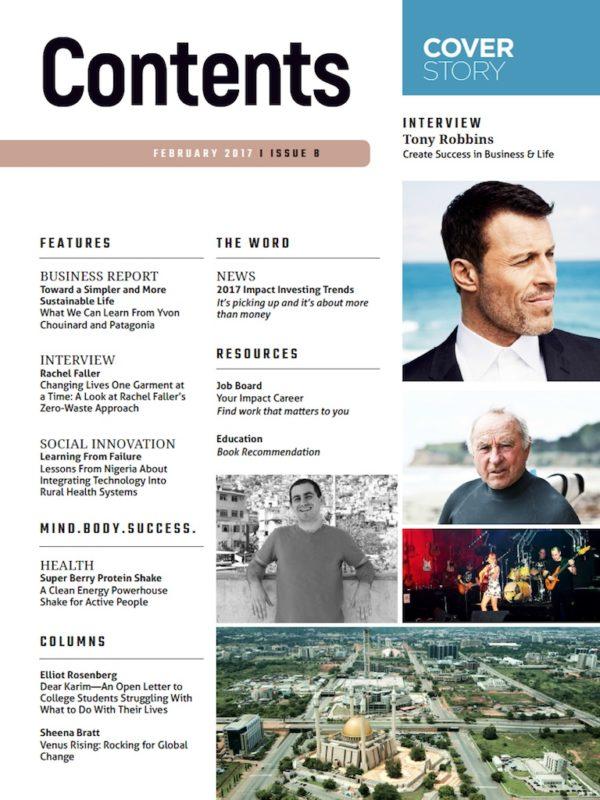 change creator magazine tony robbins
