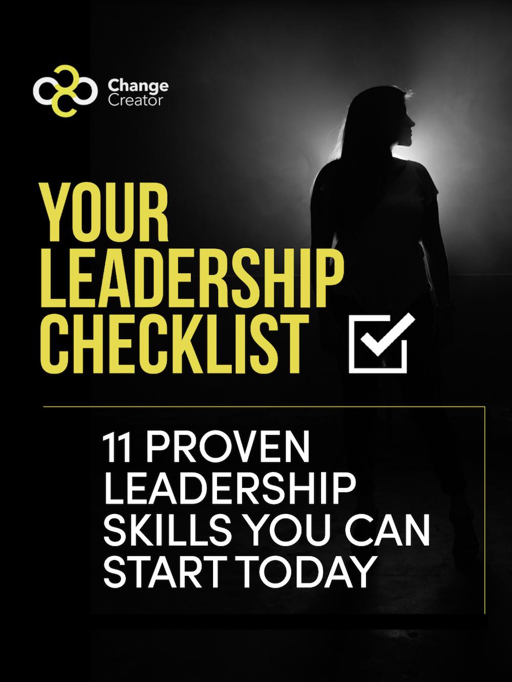 YOUR LEADERSHIP CHECKLIST